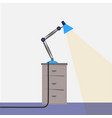 flexible desk lamp vector image
