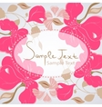 Floral background card vector image vector image