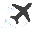 flying air liner icon vector image