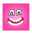 frisky smiley face icon vector image vector image