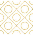 golden chains seamless pattern on white background vector image vector image