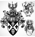 gothic crest ornaments vector image vector image