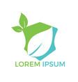 green nature leaf logo design vector image