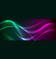 green violet neon liquid waves abstract background vector image