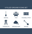 ground icons vector image vector image