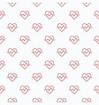 heartbeat seamless pattern or background vector image vector image