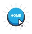 home button icon vector image vector image