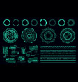 hud elements futuristic green user interface vector image