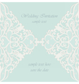 invitation card with lace ornaments vector image vector image