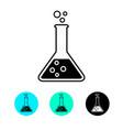 laboratory glass icon test tube trendy modern vector image
