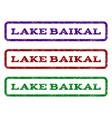 lake baikal watermark stamp vector image vector image