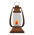 lantern with flame graphic vector image vector image