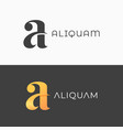 letter a logo vintage a icon on black vector image