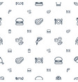 lunch icons pattern seamless white background vector image vector image