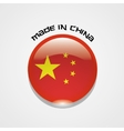 Made in China sign with chinese flag vector image vector image