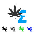 marijuana pound business flat icon vector image vector image