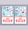 merry christmas set covers vector image