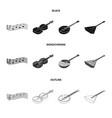 musical instrument blackmonochromeoutline icons vector image