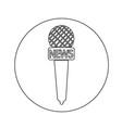 news microphone icon design vector image