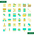 office supply flat icons set vector image vector image