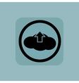 Pale blue cloud upload sign vector image vector image