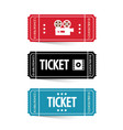 paper movie tickets isolated vector image vector image