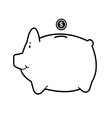 piggy bank isolate on white vector image