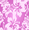 Pink decorative floral pattern vector image vector image