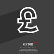 Pound Sterling icon symbol Flat modern web design vector image