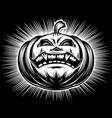 pumpkin smiling halloween harrasment horror vector image