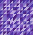 Retro triangle pattern with violet background vector image vector image