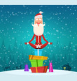 santa relax meditation winter christmas holiday vector image
