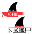 save sharks stop finning soup printable poster vector image