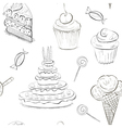 seamless sweet sketch vector image vector image