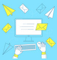 send a letter email marketing vector image