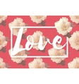 Showy Bouquet of Pink Peony Flowers With Love vector image