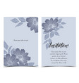 silhouette flowers with leaves vector image vector image