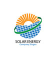 solar energy for healthy life vector image vector image
