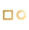 square and round golden frames on a white vector image vector image