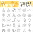 startup thin line icon set development symbols vector image