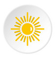sun icon circle vector image vector image
