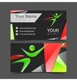 Superhero holding card logo abstract vector image