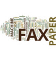 the kind of fax paper to use in a plain paper fax vector image vector image