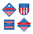 the usa independence day badges or labels vector image
