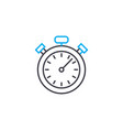 time frames thin line stroke icon time vector image vector image