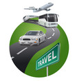 travel saround world vector image vector image