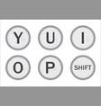 typewriter keys yuiop vector image vector image