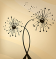 vektor unusual dandelion vector image