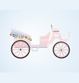 vintage floral carriage vector image
