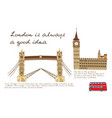 london line poster vector image